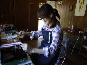トンボ玉作り